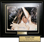 Bobby Orr - Celebrating Stanley Cup with Champagne - Autographed Color Photo