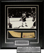 Bobby's Stanley Cup Game Signed Stick blade