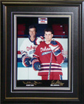 Dual autographed Orr & Lindros Photo