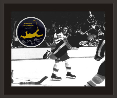 40th anniversary puck with goal photo