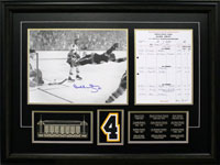 Bobby Orr's Autographed Photo of The Goal With Scoresheet