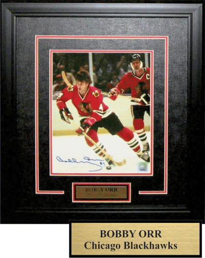 Bobby with Stan Mikita - 7 1/2 x 11